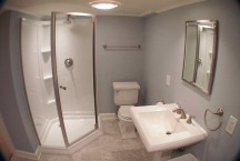 Bathroom in a Basement